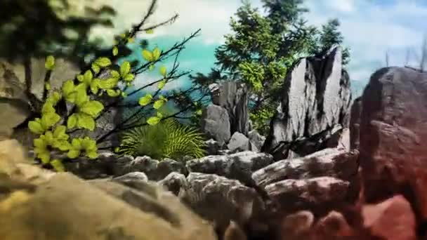 Montagna rocciosa alta