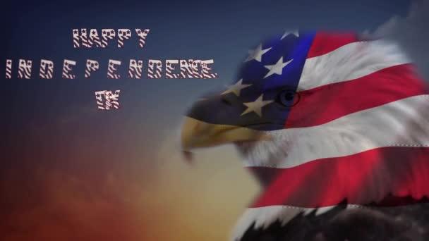 Všechno nejlepší k nezávislosti Eagle vlajka