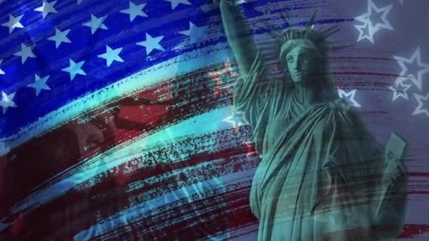 Liberty Flag Grunge