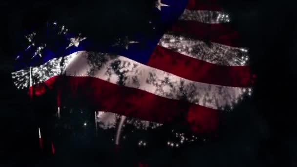 Fireworks Flag matt