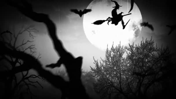 Veselý Halloween strašidelný Les Retro