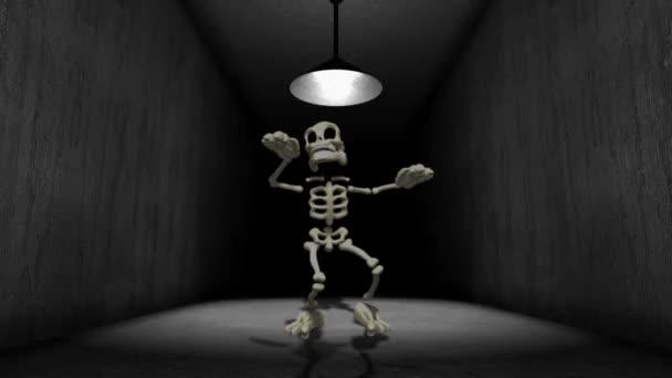 Csontváz folyosón tánc
