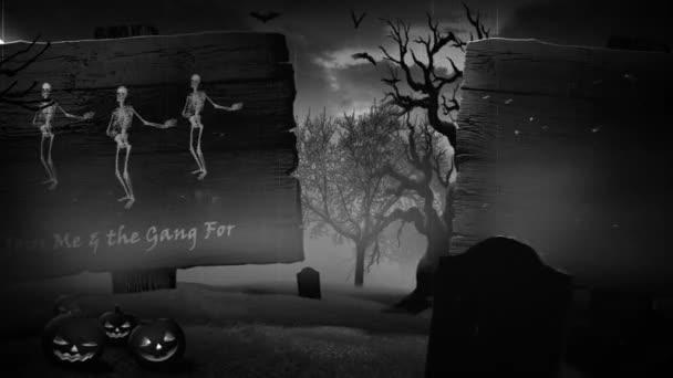 Ijesztő Halloween Party meghívó Retro