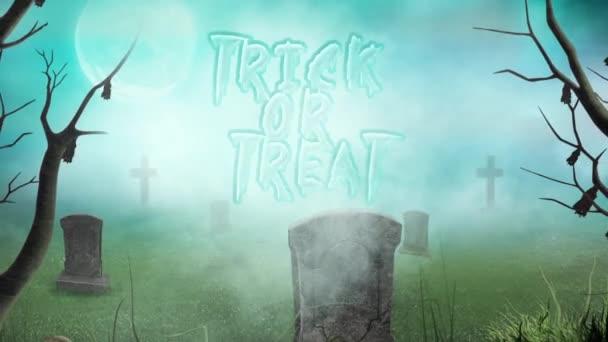 Temető Trick or Treat a ködben