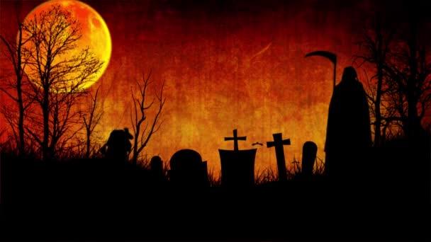 Tramonto di cimitero infestato