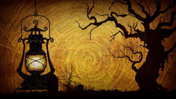 Veselý Halloween blikající světlo