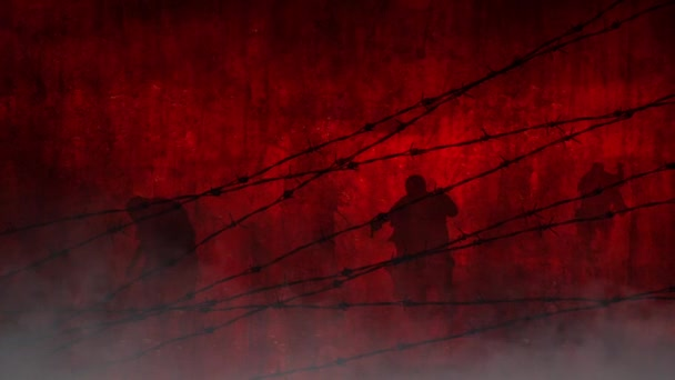 Red Zombies Behind the Wire