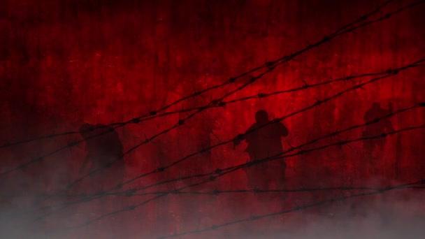 Červené zombie za drát