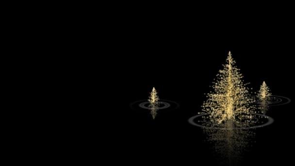 Gold Christmas on Black Merry Christmas