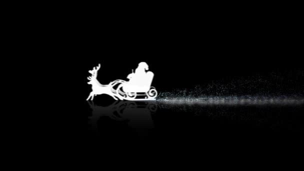 Santa na černé Veselé Vánoce
