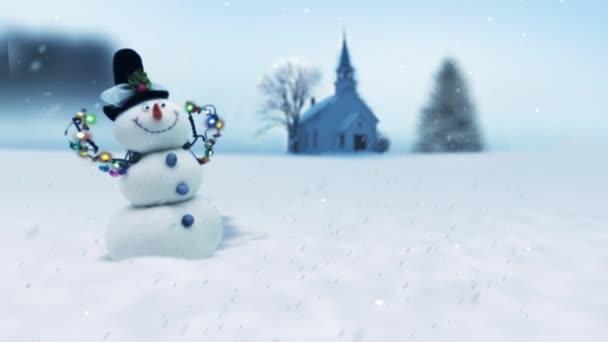 Sněhulák zimní scény fotoaparát Zoom