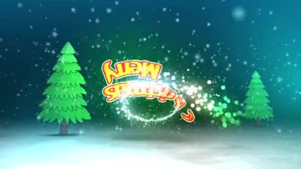 Kellemes karácsonyi ünnepeket boldog új évet Tree Rush zoom