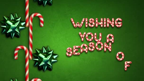 Candy Cane Holiday Greetings Text Loop