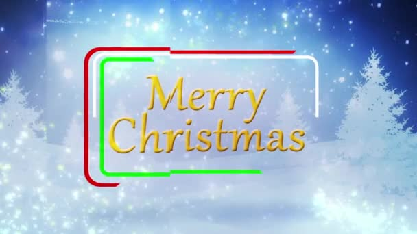 Merry Christmas Winters Day with Snow Particles