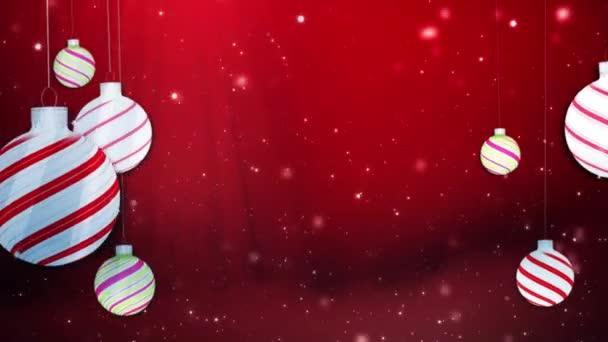 Veselé Vánoce houpající se ozdoby červeně