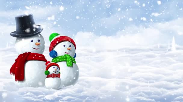 Hóember lógott ki a havas téli napon