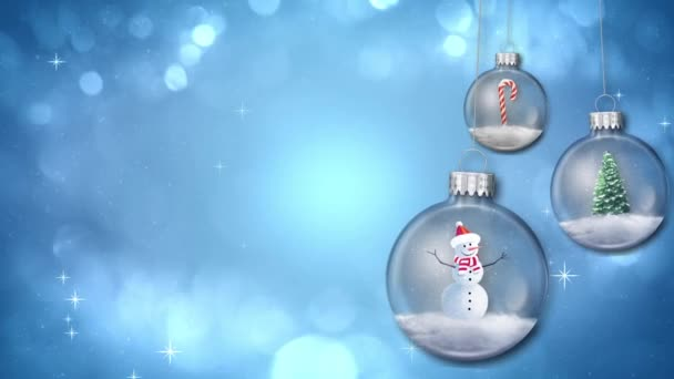 Swinging Ornaments on Blue Loop