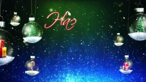 Swinging Christmas Ornaments Happy Holidays