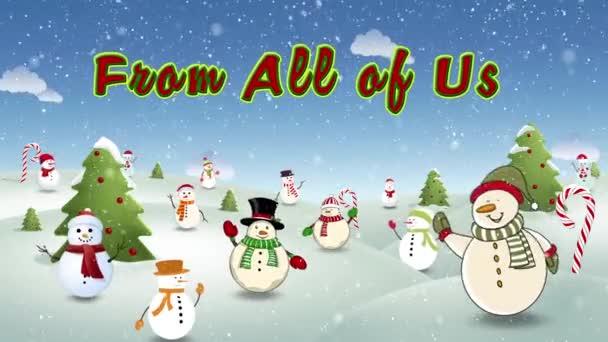 Happy Snow lidi Šťastné svátky smyčka