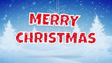 Merry christmas and a happy new year greeting video clip with hand merry christmas happy new year greeting with strings attached m4hsunfo