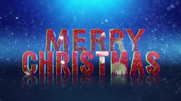 Sparkle Filled Merry Christmas Happy New Year Greeting