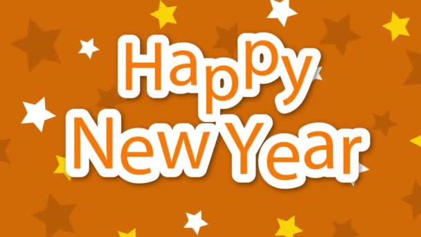Happy New Year Stars on Yellow