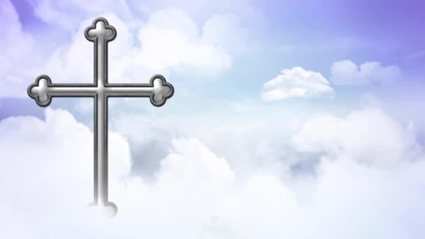 Kereszt felett a felhők hurok