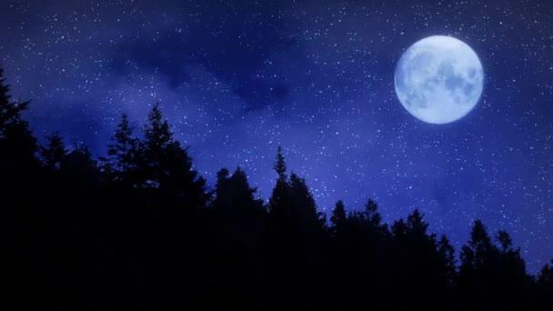 Studené Hvězdné noci v horách úplňku