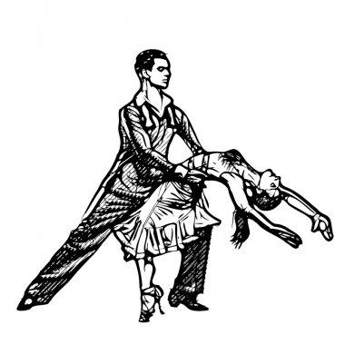 latino dancers illustration