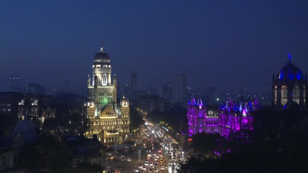 Time lapse video of new illumination on Chhatrapati Shivaji Terminus (CST) formerly Victoria Terminus, is a UNESCO World Heritage Site and Brihan Mumbai Municipal Corporation (BMC) Building, Mumbai.