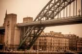 Photo Vintage look at Tyne Bridge in Newcastle