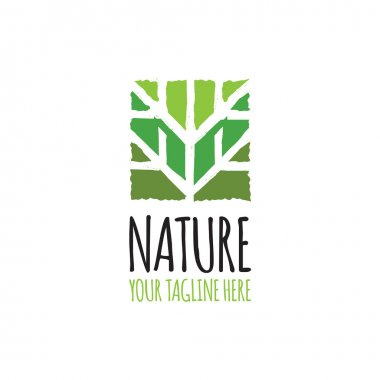 Green abstract tree logo