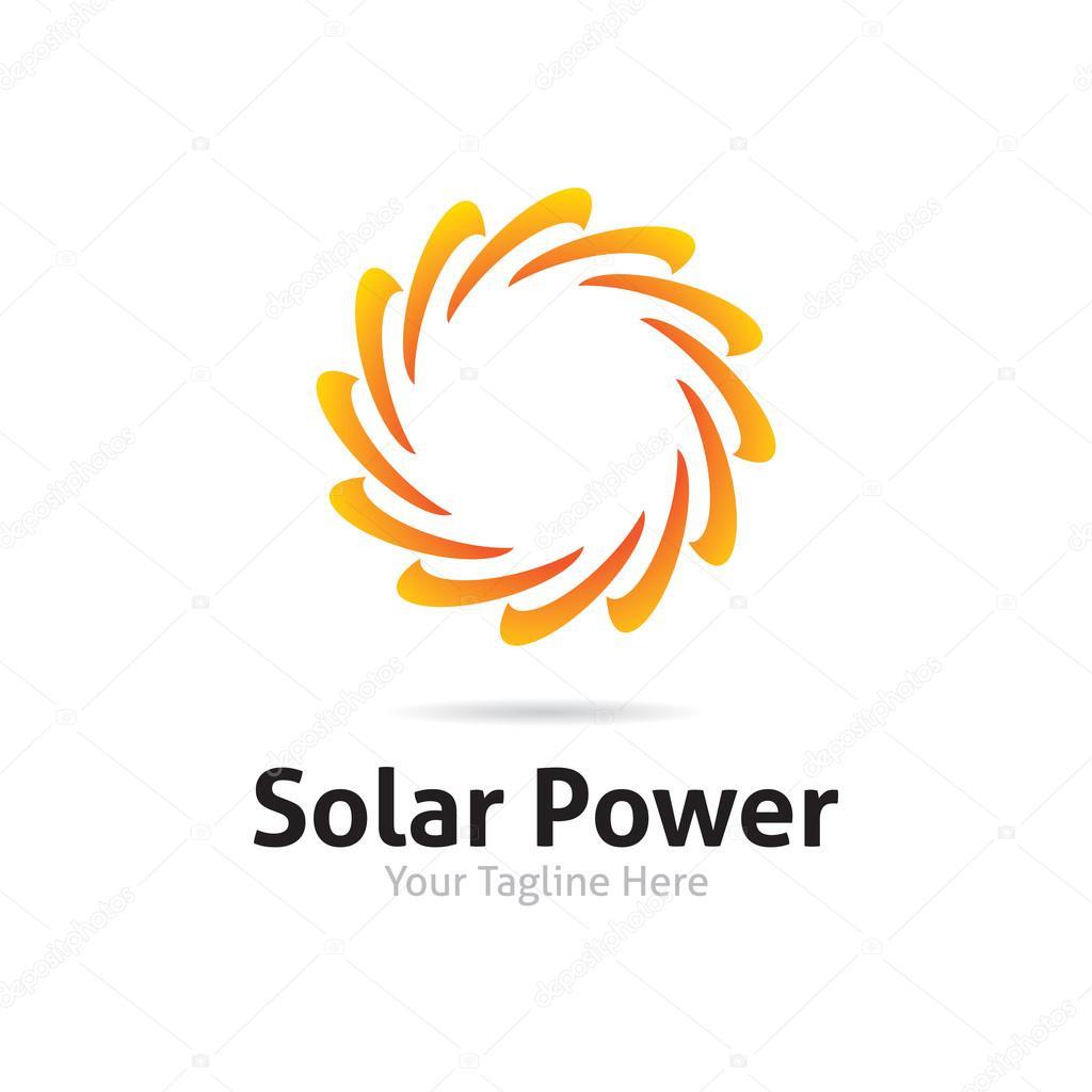 Solar Power Logo — Stock Vector © StockThrone #85981870