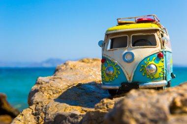 Bazik's travel on the Greek island