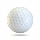 Golf míč 3D vykreslení ilustrace izolované na bílém pozadí