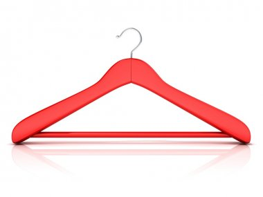Red clothes hangers