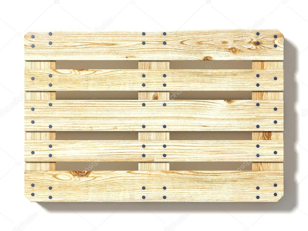 euro palette ansicht von oben 3d render isoliert auf wei em hintergrund stockfoto djmilic. Black Bedroom Furniture Sets. Home Design Ideas