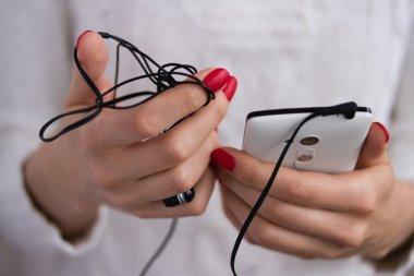 Tangled earphones