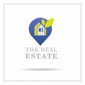 Logo nebo logo budovy bytového domu nebo obytné budovy
