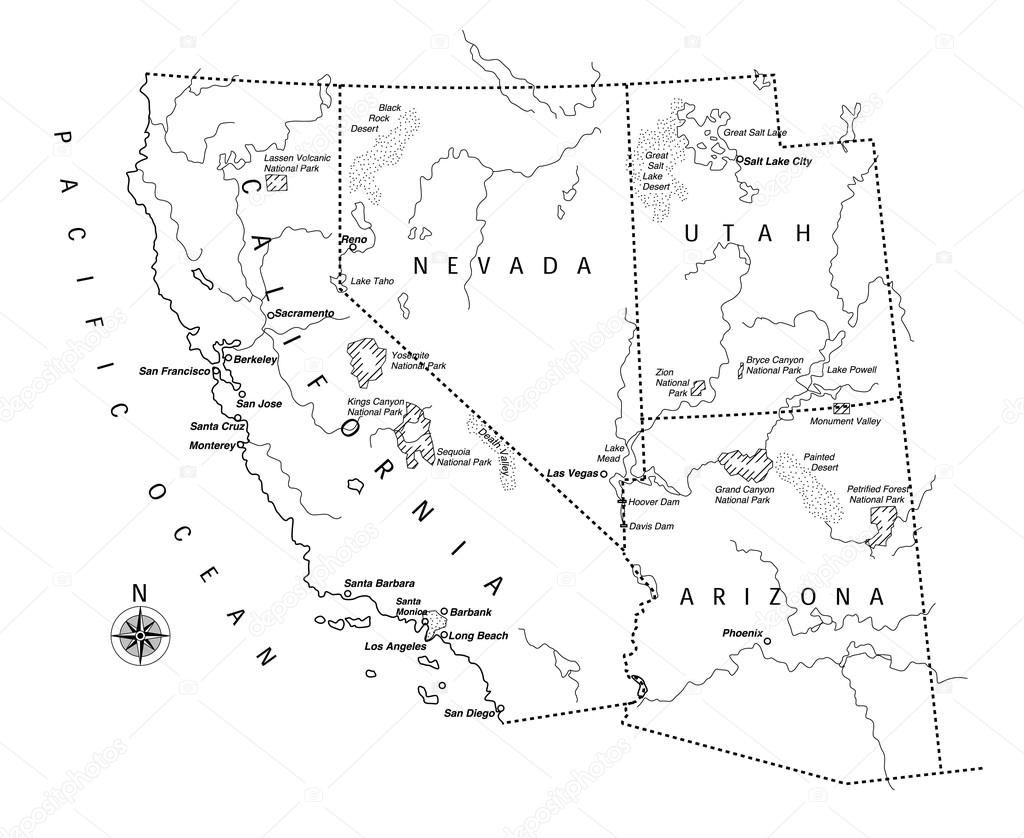 U S State Map Vector.Us State Map Stock Vector C Michikodesign 78175184