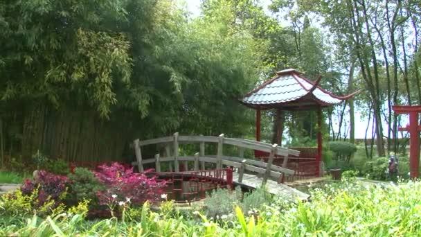 Panorama nad japonská zahrada v arboretu