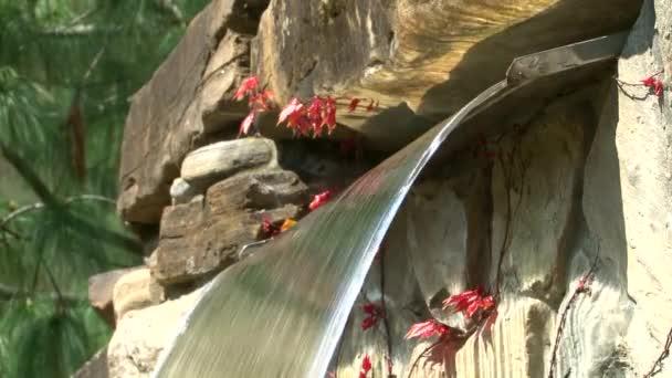 Vodopád v japonské zahradě v arboretu