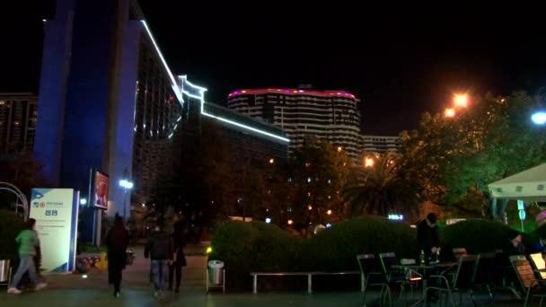 Noční výhled na centrum během olympijských her v únoru 2014 Sochi