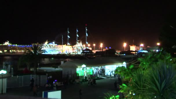 Nacht Ansichten Innenstadt während der Olympischen Spiele im Februar 2014 Sotschi