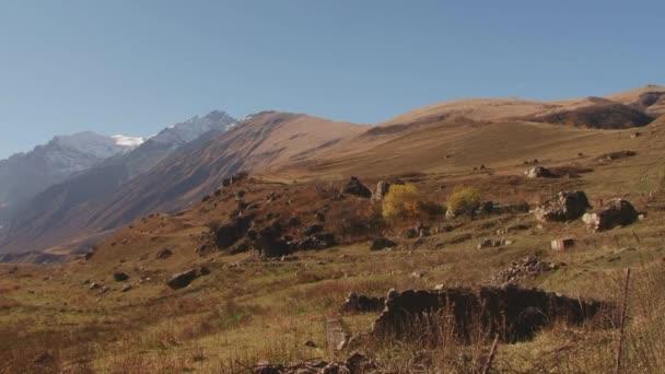 Příroda Kurtat rokle v Severní Osetii, Kavkaz, Rusko