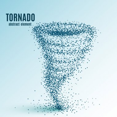 Abstract tornado on white background