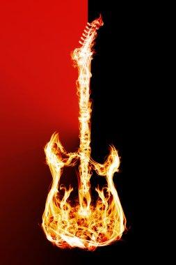 Yangın elektrik gitar