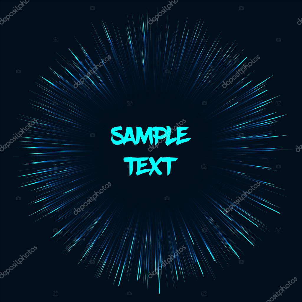 vector template with fireworks effect stock vector