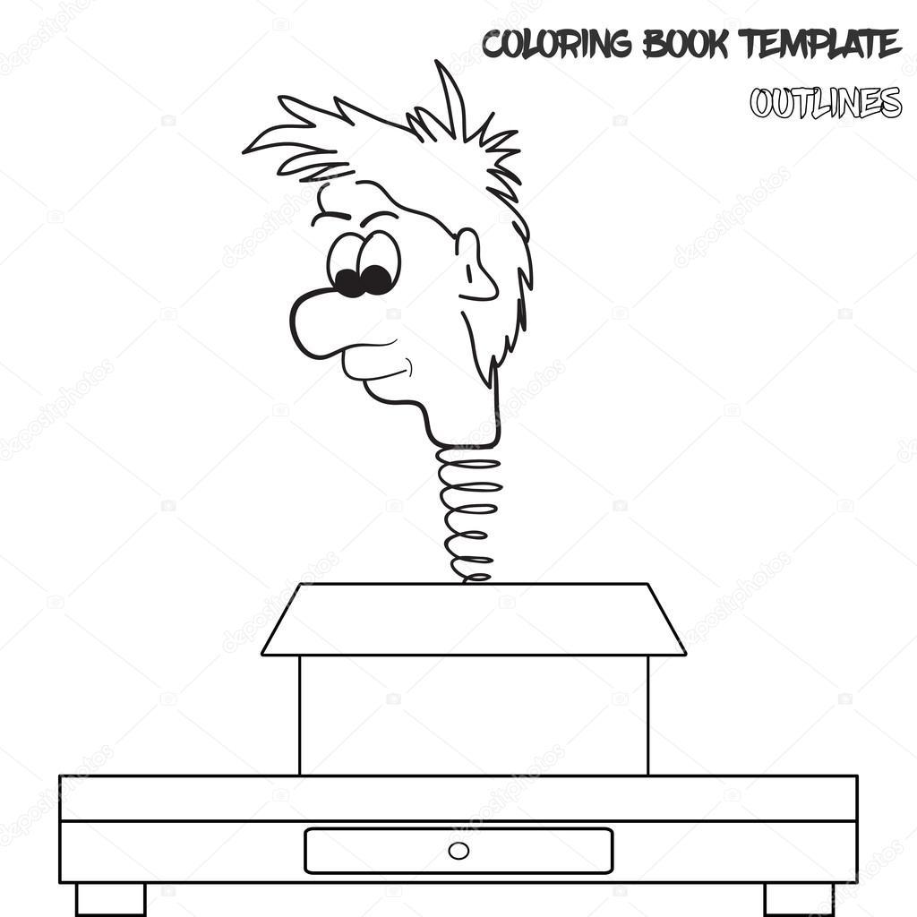 Vektor Färbung Buch Vorlage — Stockvektor © FrantisekKeclik #111398540