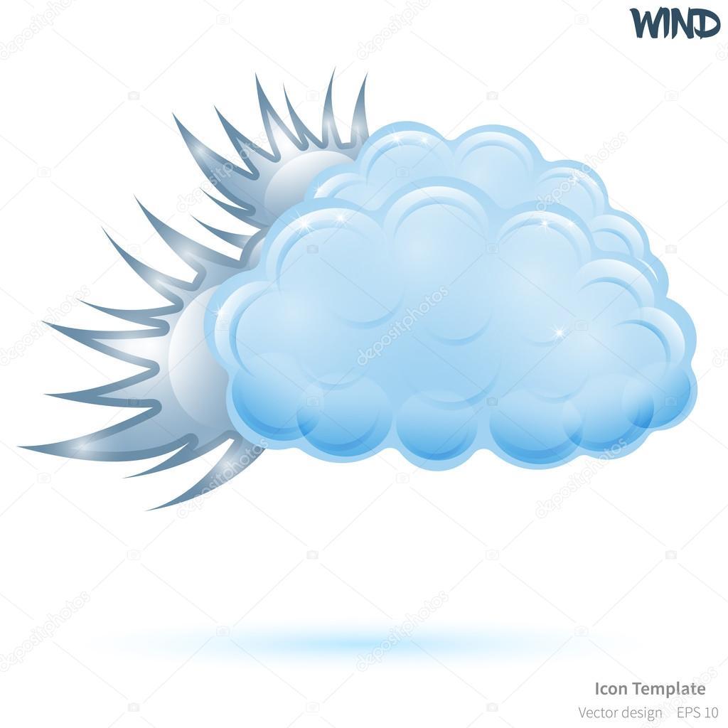 Plantilla de icono de vector viento — Vector de stock ...